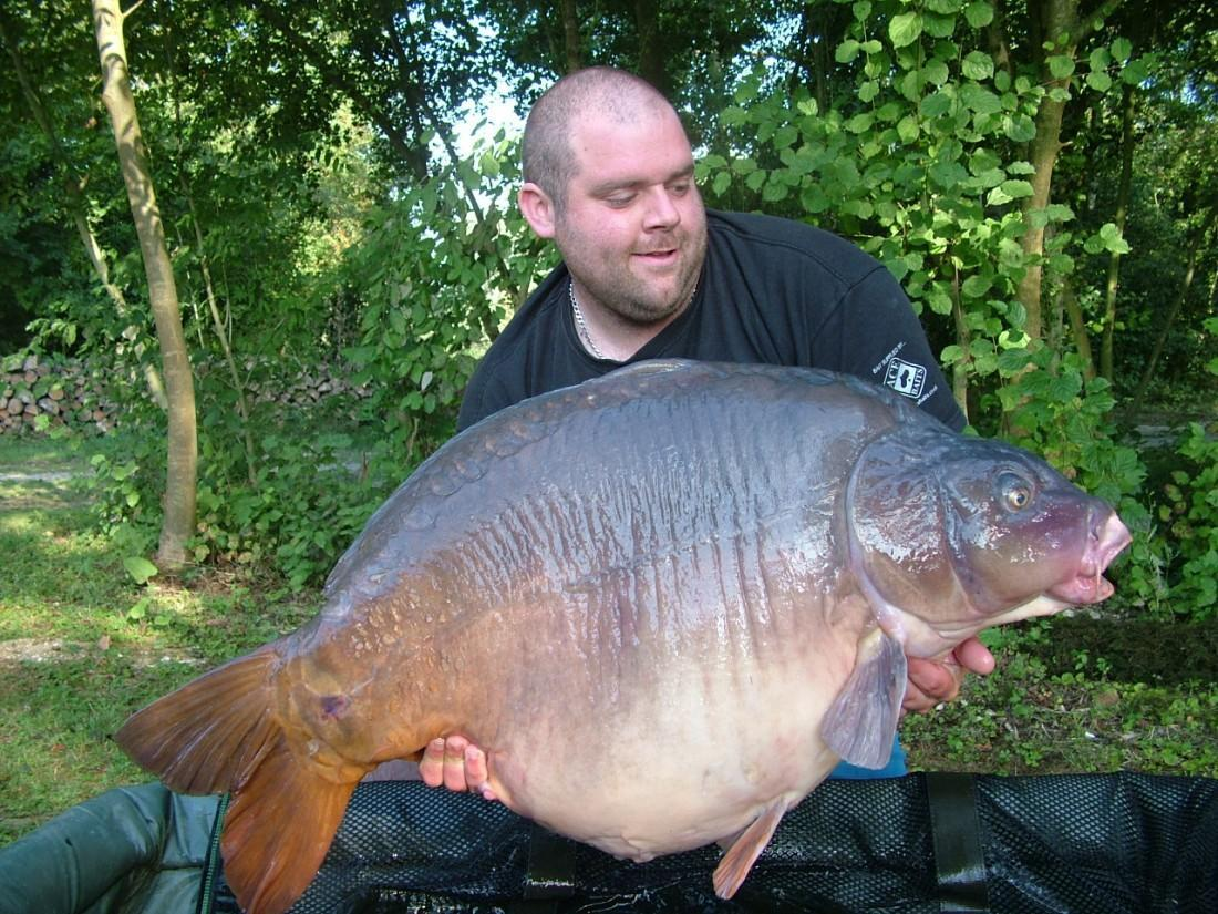 Carp fishing in northern France